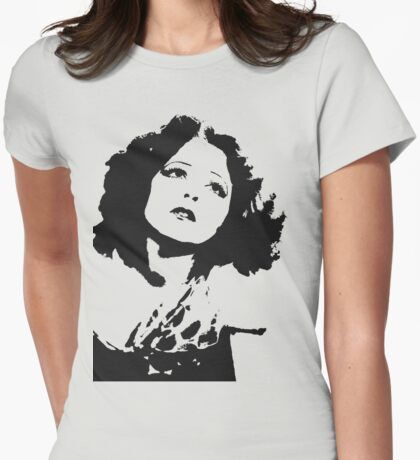 Clara Bow Unguarded Womens Fitted T-Shirt