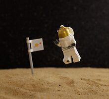 Lego Moon Walk - One really, really small step... by emmkaycee