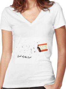End of the line Women's Fitted V-Neck T-Shirt