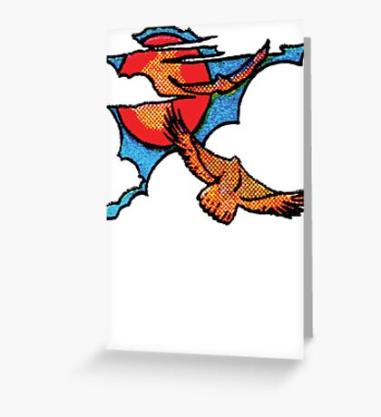 hawk in the sky Greeting Card