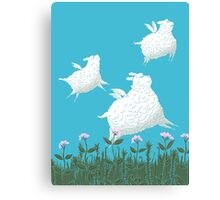 Flying Sheep Meadow Larks Canvas Print