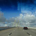 Hartman Bridge on Hwy.146N approaching Baytown, TX - June, 2016 by Baba John Goodwin