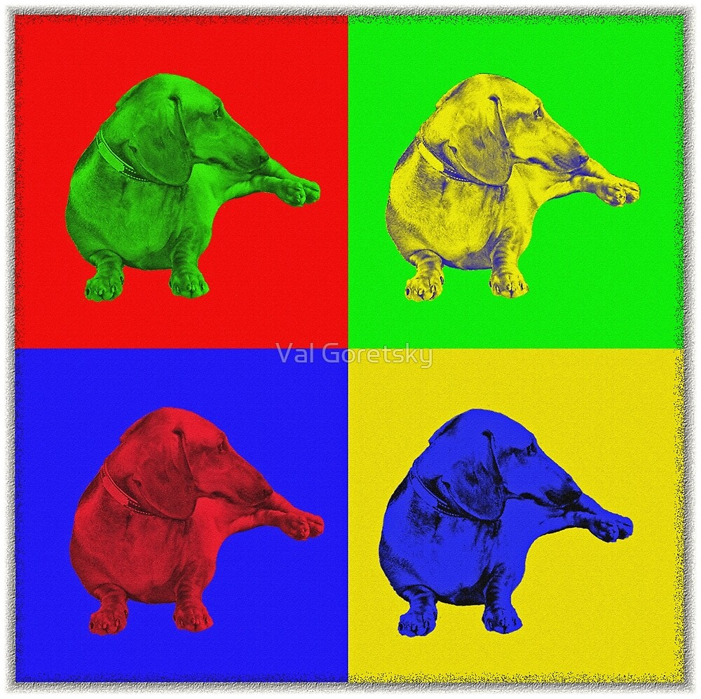 Four Dax  Pop Art by Val Goretsky