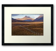 Scottish Moorland and Mountain Framed Print