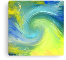 The wave-Abstract 49 wall art +Wave Quotes & Clothing+Products Design Canvas Print