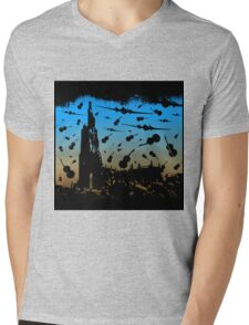 Psycho Attack Mens V-Neck T-Shirt