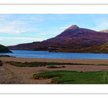 Panorama of Loch Assynt and Ardvreck Castle Sticker