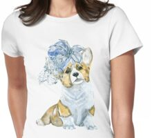 Corgi in a hat Womens Fitted T-Shirt