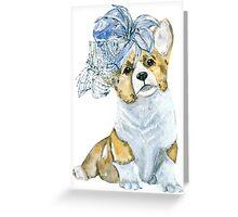 Corgi in a hat Greeting Card