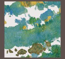 Green Earthy Abstract - Earth Dance - Sharon Cummings One Piece - Short Sleeve