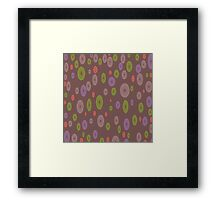 SEVENTY TWO LIME FLOWER Framed Print