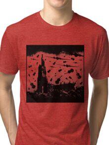 Psycho Attack - Black Print Tri-blend T-Shirt