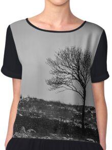 Wind Bent Tree Chiffon Top
