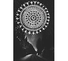 Mandala  Outdoor Night Sky Photographic Print