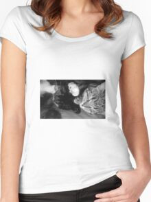 Sisters sleeping Women's Fitted Scoop T-Shirt