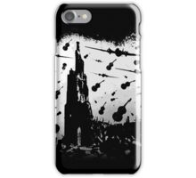 Psycho Attack - White Print iPhone Case/Skin