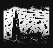 Psycho Attack - White Print Kids Tee