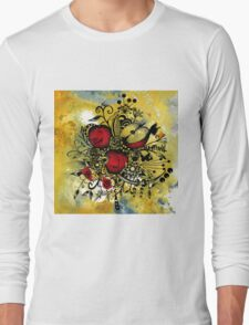 Abstract Acrylic Painting APPLES II Long Sleeve T-Shirt