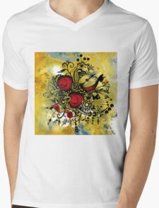 Abstract Acrylic Painting APPLES II Mens V-Neck T-Shirt