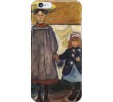 Edvard Munch - Four Girls. Expressionism iPhone Case/Skin