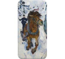 Edvard Munch - Galloping Horse. Munch  iPhone Case/Skin