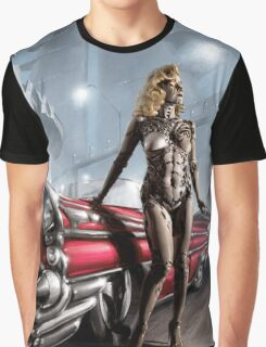 Retro Robot Painting 001 Graphic T-Shirt