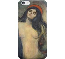 Edvard Munch - Madonna. Munch - woman portrait. iPhone Case/Skin