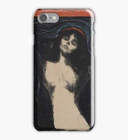Edvard Munch - Madonna 1. Munch - woman portrait. iPhone Case/Skin