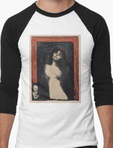 Edvard Munch - Madonna 1. Munch - woman portrait. Men's Baseball ¾ T-Shirt