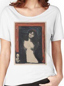 Edvard Munch - Madonna 1. Munch - woman portrait. Women's Relaxed Fit T-Shirt