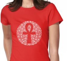Floral Ankh Womens Fitted T-Shirt