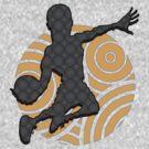 Basketball Player Geometric Hoops Pattern by MudgeStudios