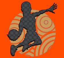 Basketball Player Geometric Hoops Pattern Kids Tee
