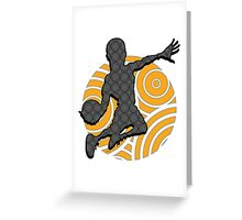 Basketball Player Geometric Hoops Pattern Greeting Card
