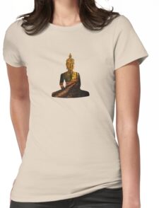 woodland Buddha Womens Fitted T-Shirt