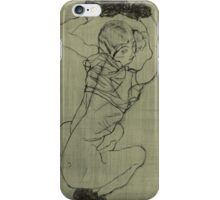 Egon Schiele - Kauernde Squatting Woman. Schiele - woman portrait. iPhone Case/Skin