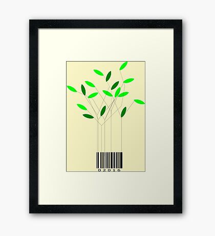 Commerce and nature, are they compatible? Framed Print