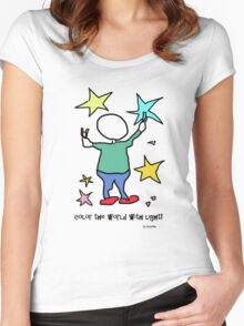 coloring light! Women's Fitted Scoop T-Shirt