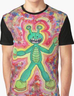 Sloppy Kid's Painting of Number 4 M.U.S.C.L.E. Figure Kani Base Graphic T-Shirt