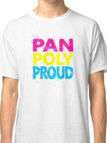 Pan Poly Proud - Flag Colors Classic T-Shirt