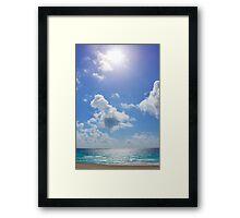 Sunny Beach Sky Framed Print