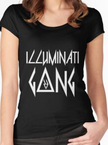 Illuminati G23ng (White) Women's Fitted Scoop T-Shirt