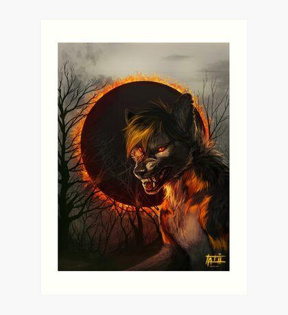 Hell Above Art Print