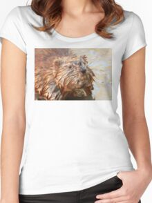 Muskrat in the Muck Women's Fitted Scoop T-Shirt