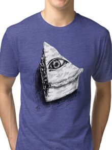 The All Seeing Pie Tri-blend T-Shirt