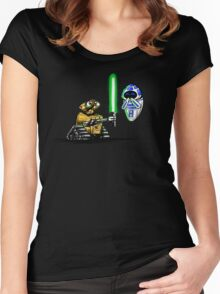 Happy Droids  Women's Fitted Scoop T-Shirt