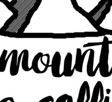 The mountains are calling graphic print Sticker