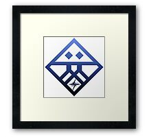 Kiznaiver Corporate Logo - blue Framed Print