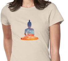 Metta is Better Buddha Womens Fitted T-Shirt