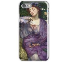 Edward Poynter - Lesbia And Her Sparrow 1907. Poynter - woman portrait. iPhone Case/Skin